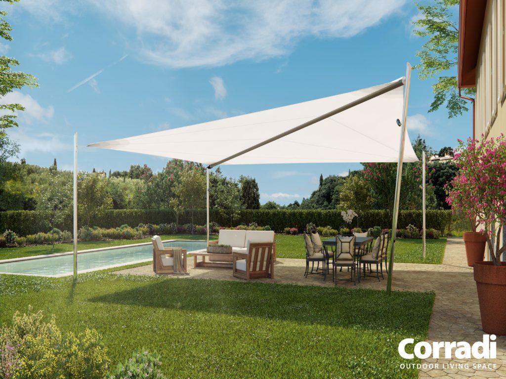 Sonnensegel Maestrale von der Firma Corradi