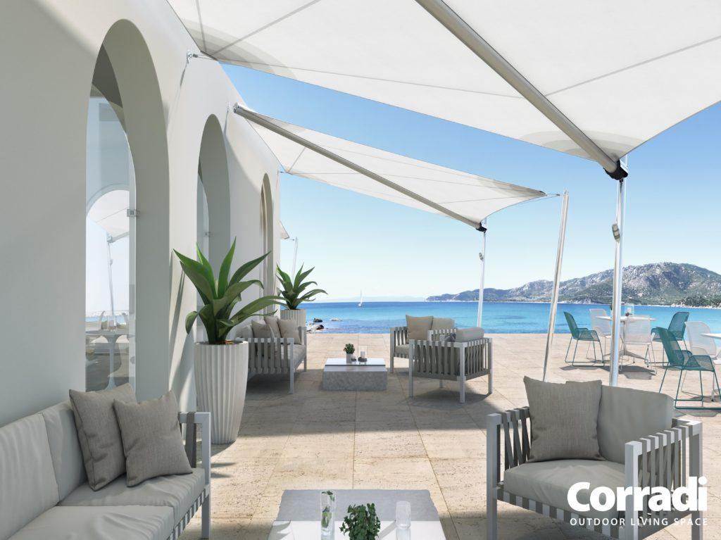 Sonnensegel Scirocco von der Firma Corradi
