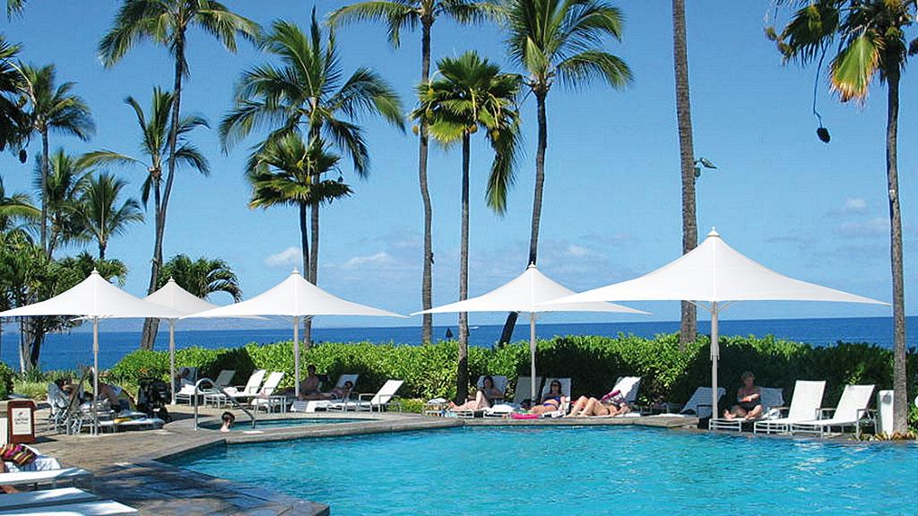 Sonnenschirm Modell Jumbrella Wave von der Firma Bahama