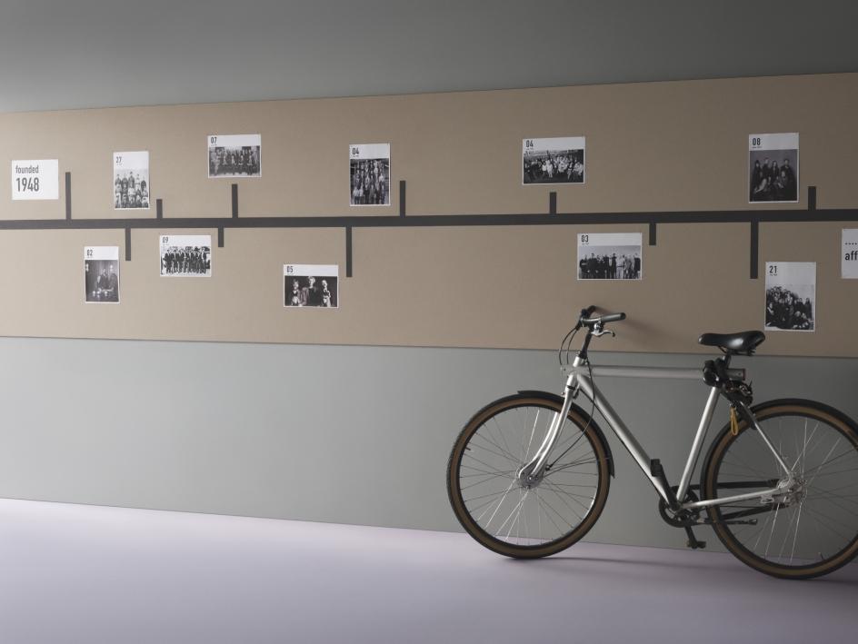 Linoleum Bulletin Board der Firma Forbo