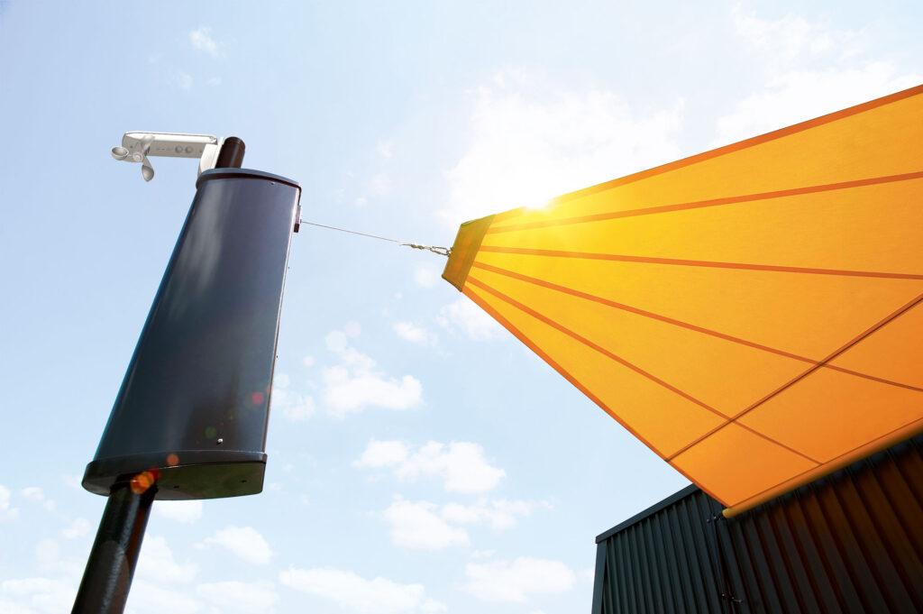 Sonnensegel Modell Sonea S4 von der Firma Warema