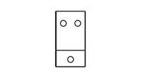 Typ B - Wandmontage mit 3 Bohrungen