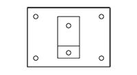 Typ C - Wandmontage mit Montageplatte klein